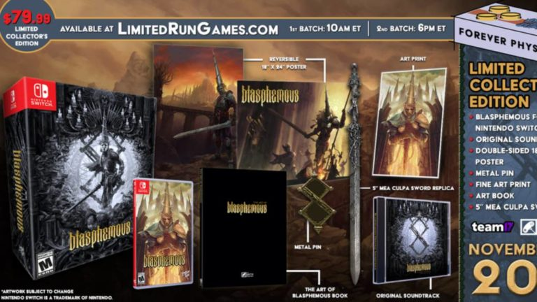 Blasphemous will have a physical and collector version for PS4 and Nintendo Switch
