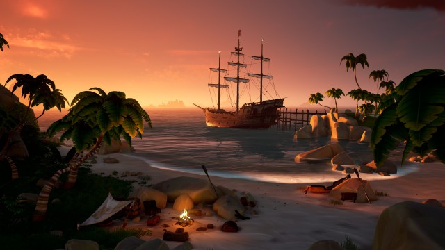 playa cannon cove galleon island sea of thieves sot xbox