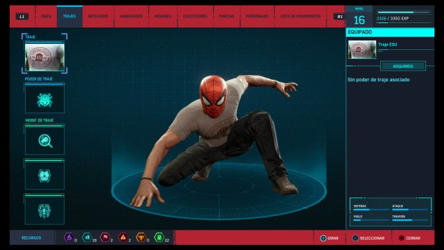 marvel spider-man suit esu ps4
