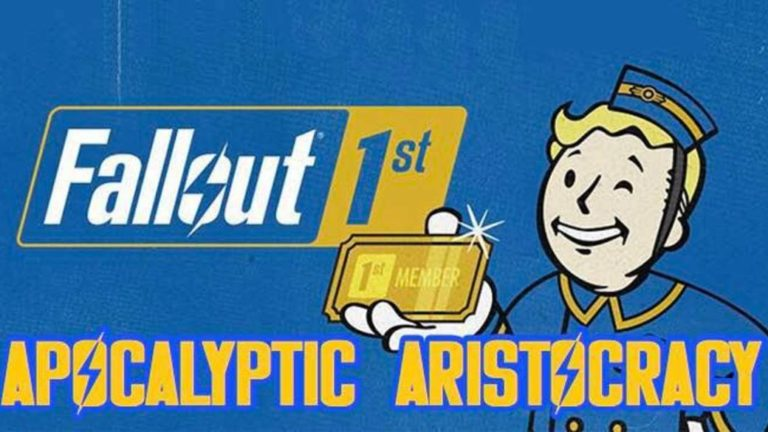 Fallout 76: Fallout First subscribers found a group of aristocrats