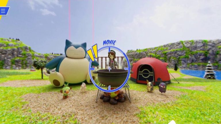 Pokémon Sword and Shield: Live the Wild Area from a 360 degree navigator