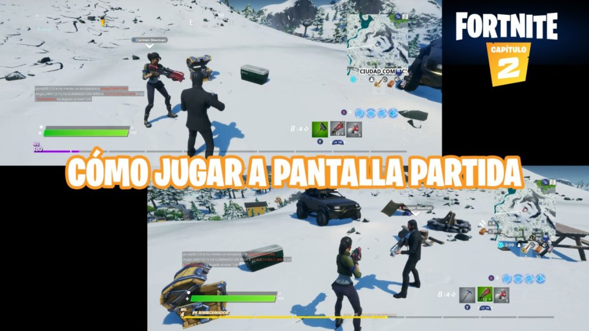 Fortnite Split Screen Options Fortnite How To Activate Split Screen Multiplayer On Ps4 And Xbox One