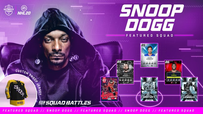 NHL 20 - Snoop Dogg available as a playable character