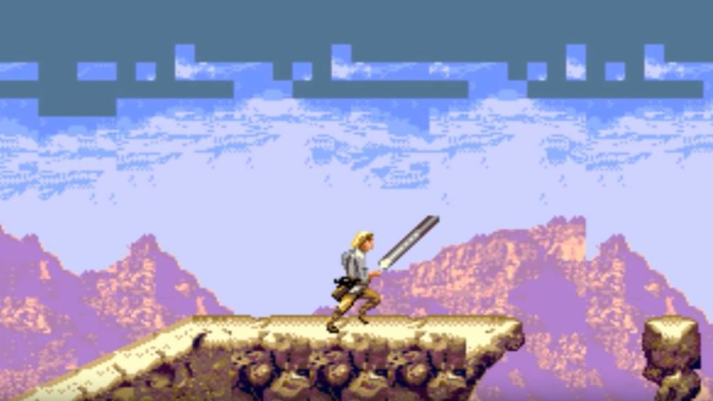 The canceled Super Star Wars (SNES) prototype for Mega Drive appears