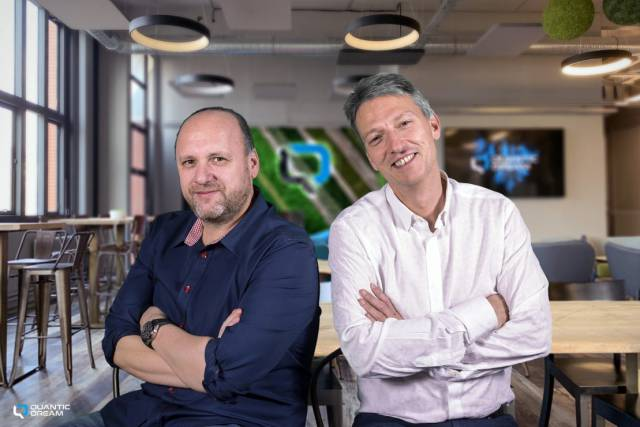 David Cage and Guillaume de Fondaumière, CEO and Deputy CEO
