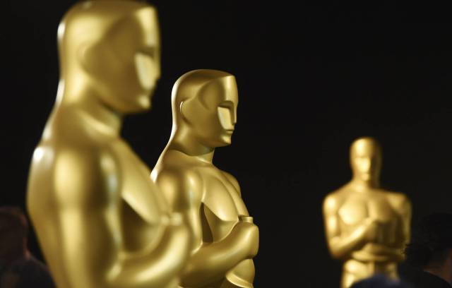 Oscar statues at the Dolby Theater on January 31. CHRIS PIZZELLO GTRES