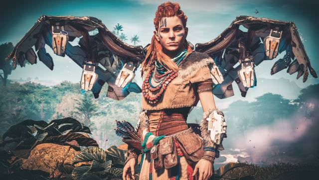 Women video games female characters Aloy Horizon Zero Dawn