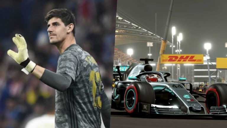 Thibaut Courtois, Real Madrid goalkeeper, joins the Chinese Virtual Grand Prix in F1 2019