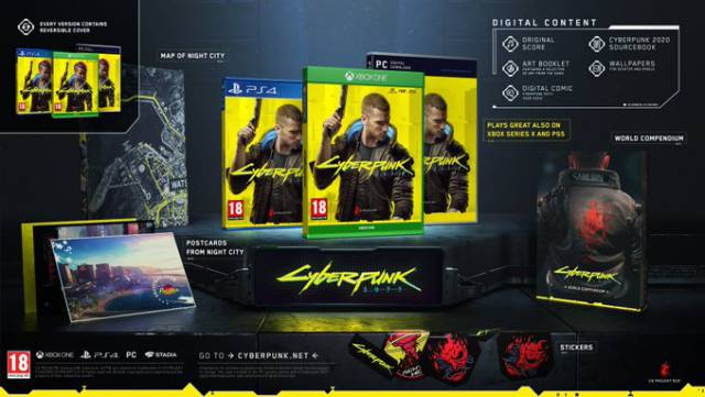 Cyberpunk 2077 adds a digital comic to all its editions