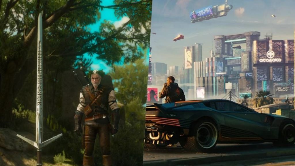 Cyberpunk 2077 will feature a sword from The Witcher 3 … but now it's a car!