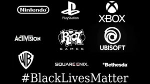 The video game world joins the Black Lives Matter: all messages and gestures of support