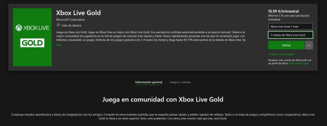 Xbox live gold year subscription removed