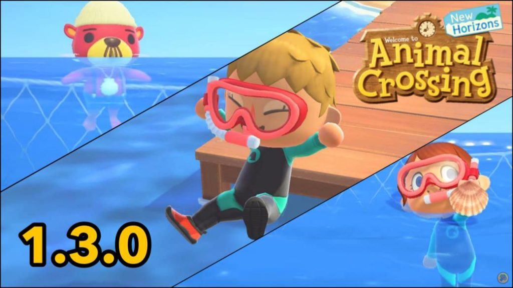 Animal Crossing: New Horizons is updated to version 1.3.0; we can swim