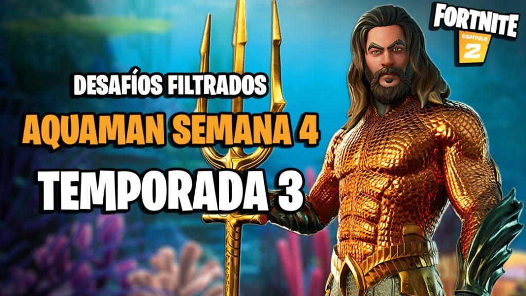 Fortnite Season 3: leaked challenges Aquaman Week 4