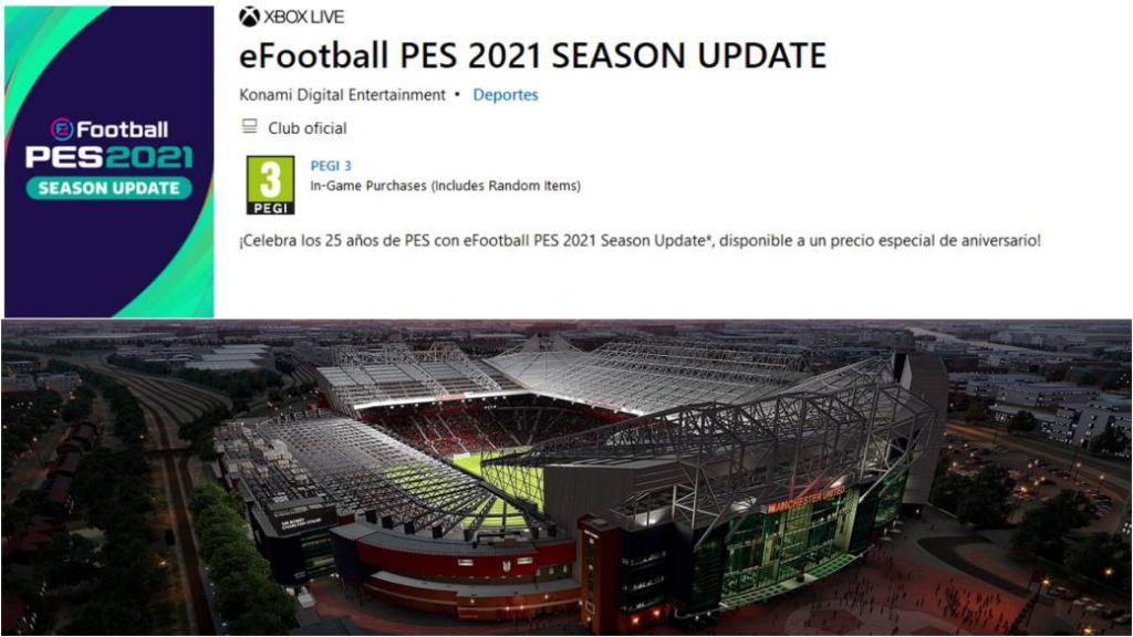 PES 2021: Microsoft Store anticipates that it will be an update to PES 2020