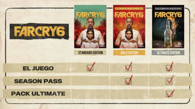 Far Cry 6 special collector editions flamethrower Ubisoft