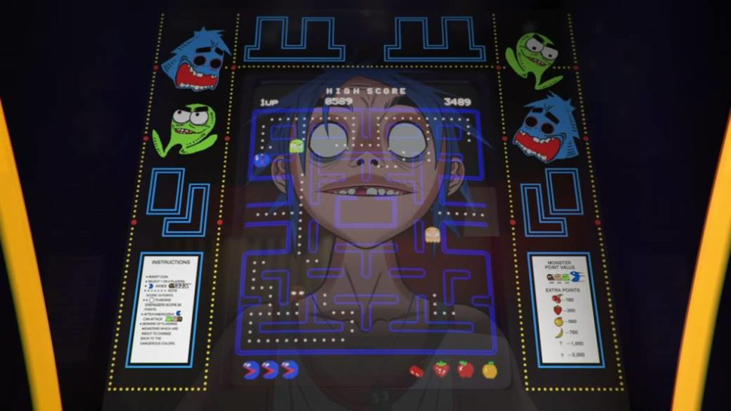 Pac-Man, the new Gorillaz song