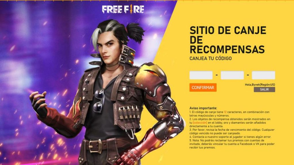 Free Fire: How and where to redeem a code or key in 2020