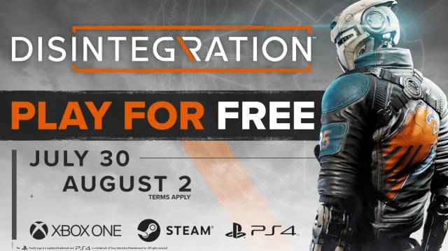 Free disintegration PC, PS4 and Xbox One