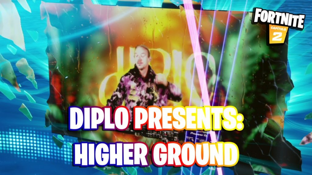 Diplo event in Fortnite live, Higher Ground concert live