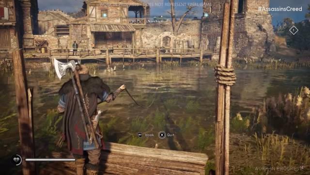 Assassin's Creed Valhalla fishing minigame Ubisoft Forward