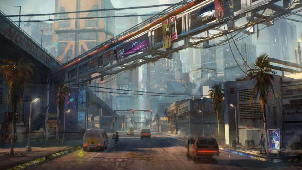 Cyberpunk 2077 shows one of Night City's oldest districts