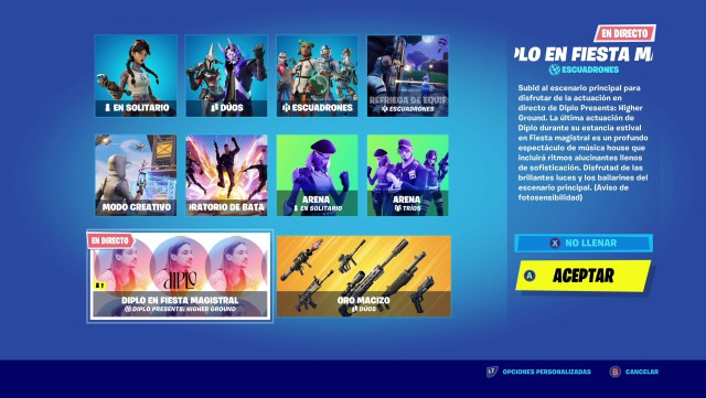 fortnite episode 2 season 3 event concert diplo higher ground