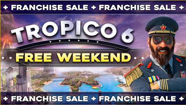 Play Tropico 6 for free on Steam this weekend: sales throughout the saga