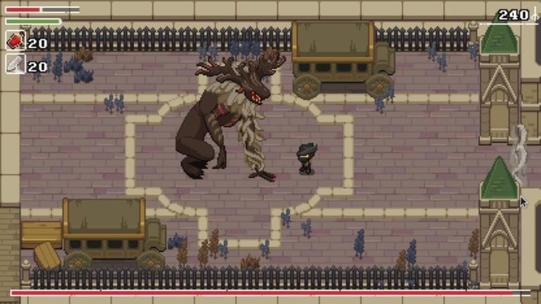 Yarntown: this is the mix of Bloodborne and Zelda in 2D; free on PC