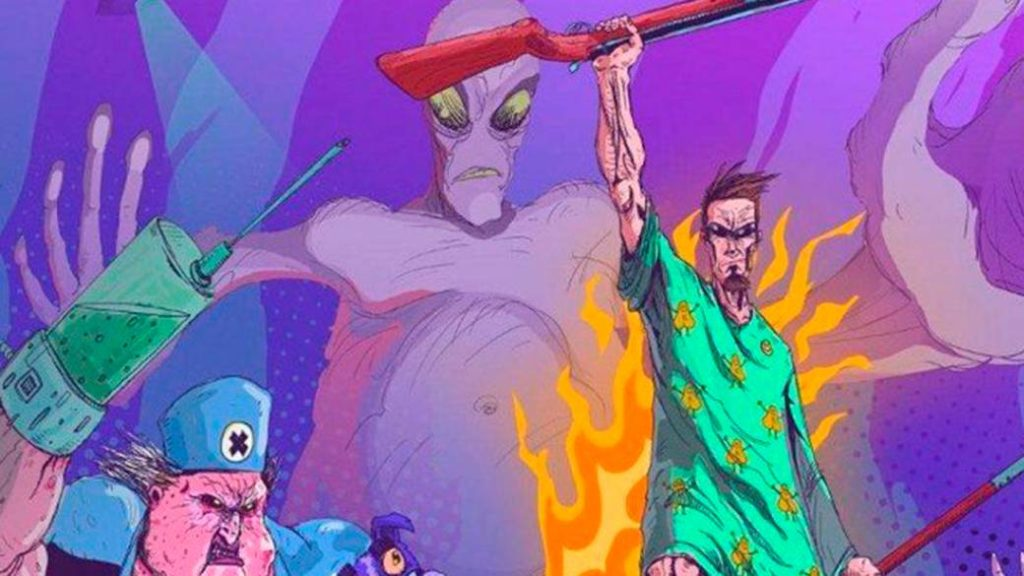Postcard: Brain Damaged is the new and violent spin-off of the FPS saga in a retro key