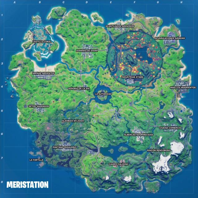 fortnite chapter 2 season 4 industries stark iron man new map