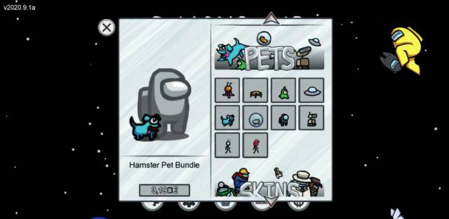 Among Us! skins pets hats price PC Mac mobile iOS Android free