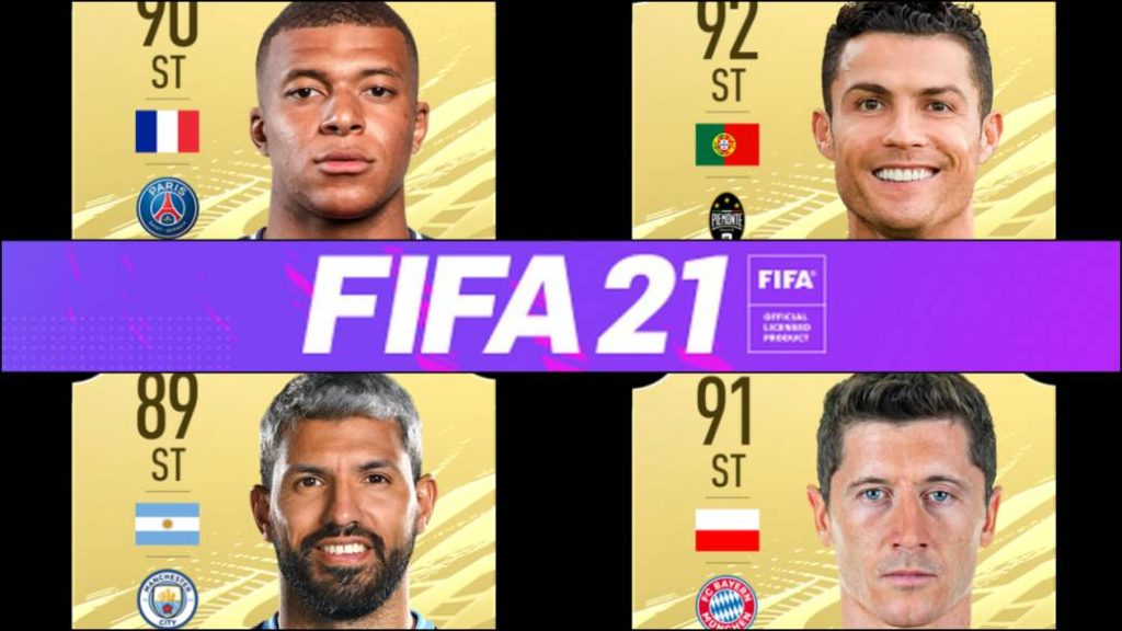 FIFA 21 reveals the best forwards in the game: Cristiano, Agüero, Mbappé and more
