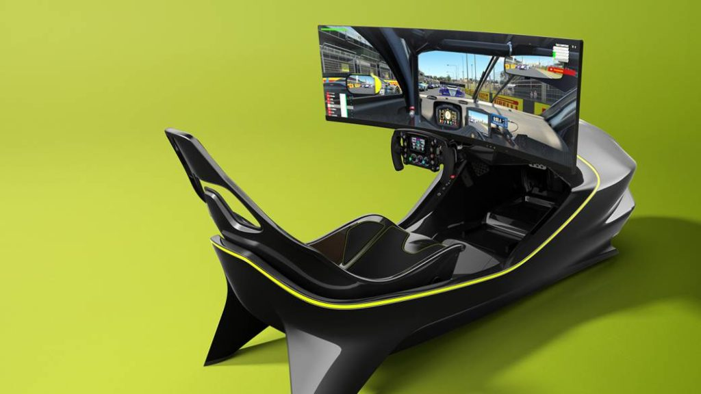 This is the Aston Martin simulator for racing games valued at 62,000 euros