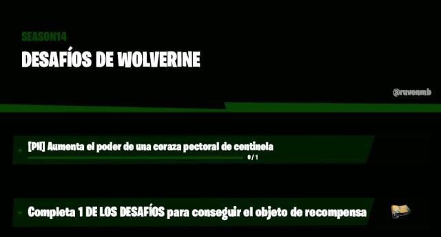 fortnite episode 2 season 4 challenges leaked week 4 wolverine