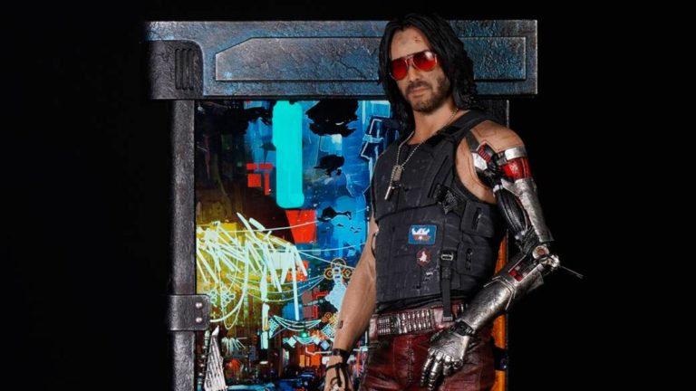 Here's the $ 899 figure of Johnny Silverhand, Keanu Reeves in Cyberpunk 2077