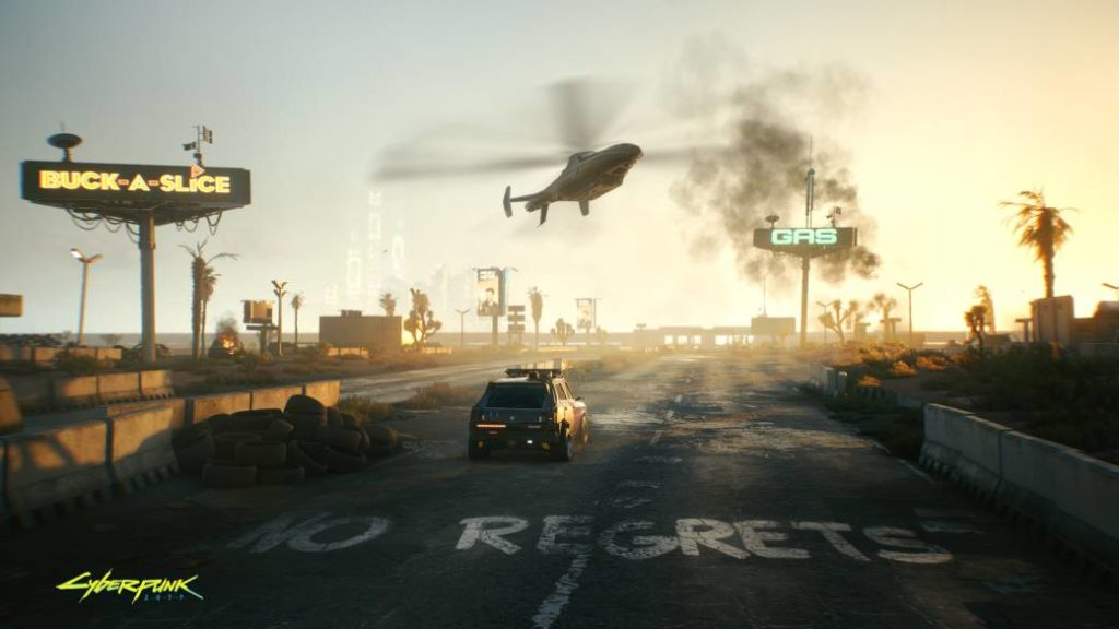 Cyberpunk 2077 shows the wasteland in a new image