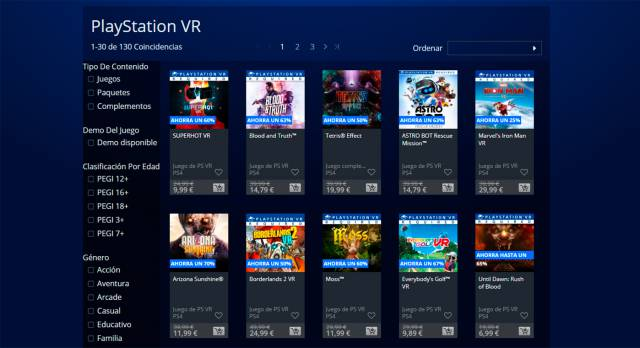 PlayStation VR receives deep discounts on its games through the PS Store