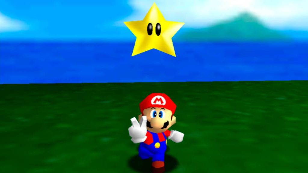 Super Mario 64 from Nintendo 64 and Switch face to face in a comparison video