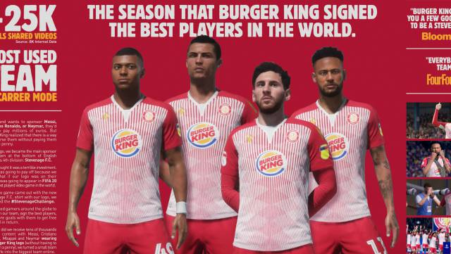 This is how Burger King managed to make Messi, Cristiano and other stars wear their brand, at a bargain price