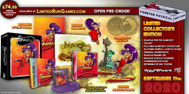 This is the Shantae editions of Game Boy Color from Limited Run: date and extras