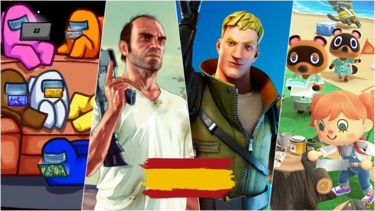 What is most played in Spain? Top-10 most played video games in 2020