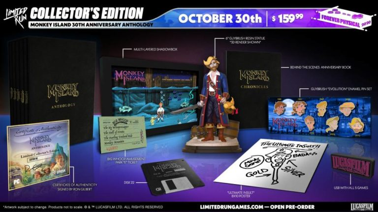 Limited Run Games collects the Monkey Island saga in a spectacular edition