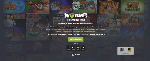 Worms saga steam humble bundle offer