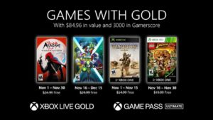 These are the free games with Gold for Xbox One in November 2020