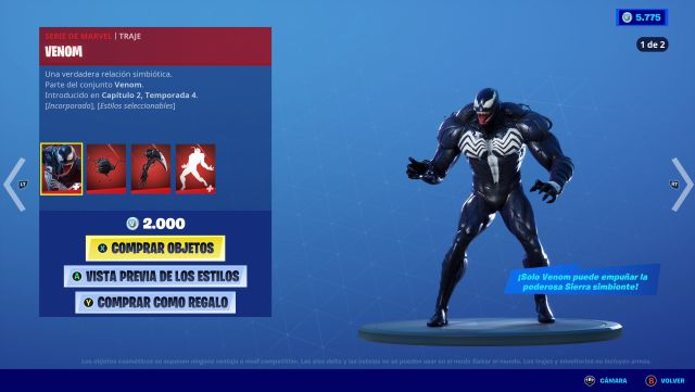 Fortnite Venom Skin Now Available Price And Contents 5000 one is a black panther image whilst the other is an image of venom, which is yet another clue we'll get a venom. fortnite venom skin now available