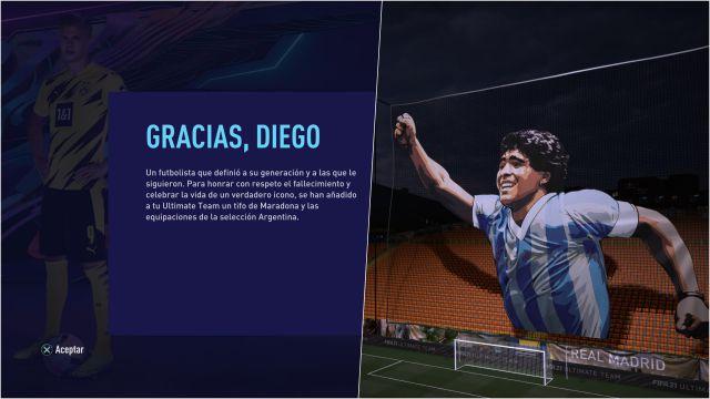FIFA 21 free items Maradona