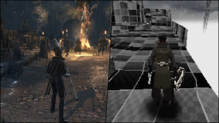 A fan recreates Bloodborne as a PSX game