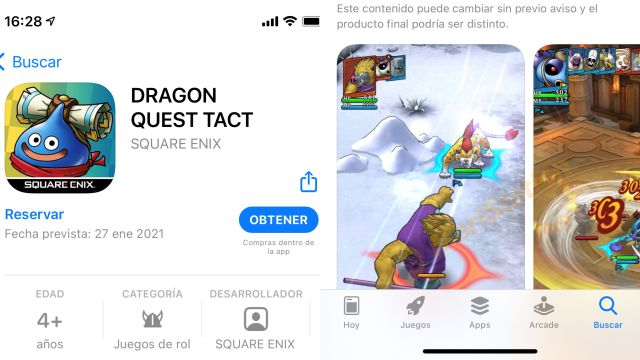 Dragon Quest Tact release date Spain Europe free mobile game iphone android