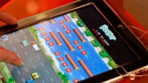 Konami develops a television contest based on the classic Frogger